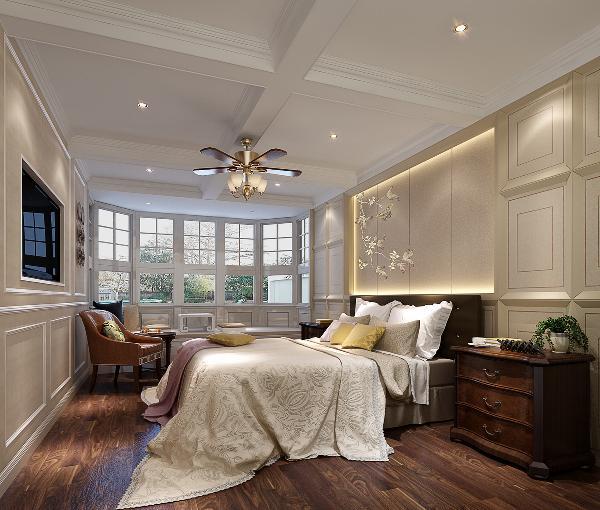 龙光·九龙玺四居室欧式风格装修卧室装修效果图