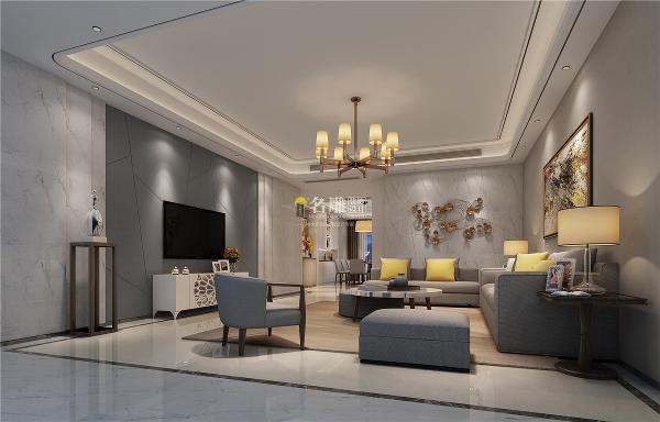 水湾1979四居室现代风格装修设计客厅装修效果图
