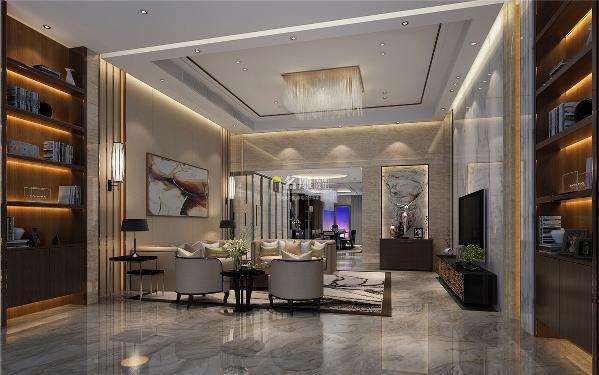 御景水岸500平别墅现代时尚装修设计地下室效果图