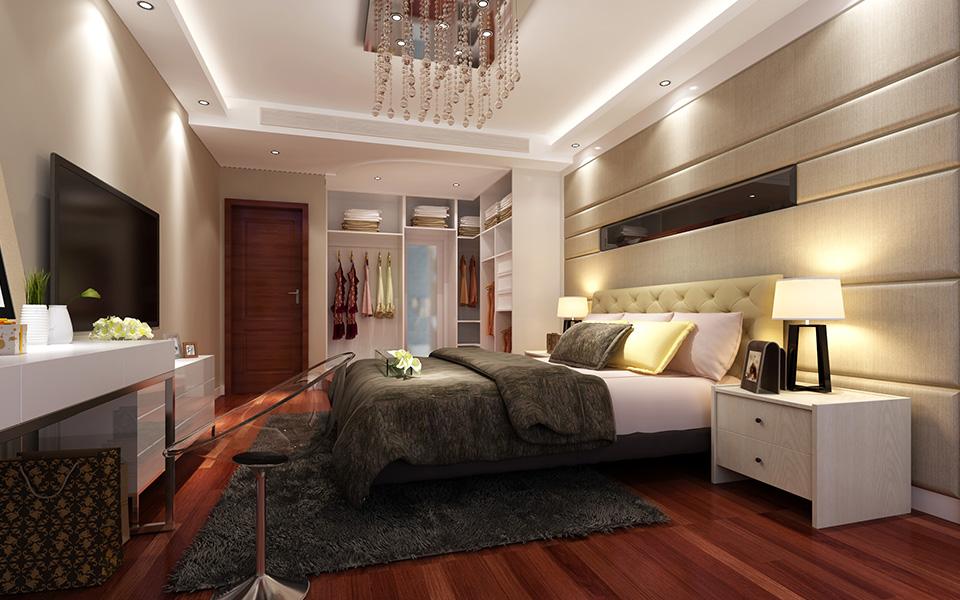 简约 现代 三居 装修 家装 三房两厅 卧室图片来自壹品装饰在南庭城果的分享
