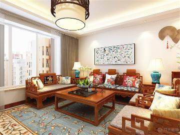 中粮大道 - 三居室 - 中式风格