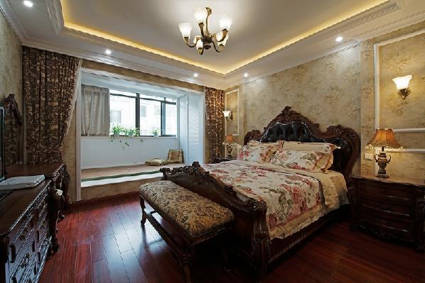 紫睿天和148平米三居室欧式风格装修效果图