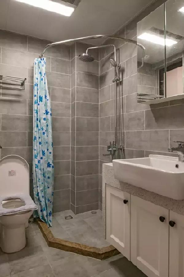 简约北欧风格三居卫生间装修效果图片_装修美图-新浪