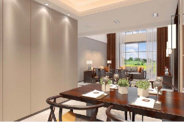 永威东棠240平复式楼一楼餐厅修效果图