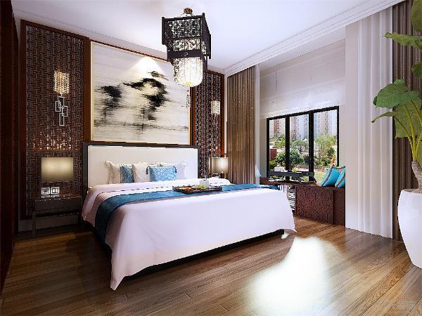 主卧室墙面装饰画及硬包中式框架背景的点缀,窗台石下做的储物柜,增加了储物功能,次卧室采用暖色的墙漆,整体简约一点,做的偏现代了一点,书房就是传统偏现代一点常规的家具。