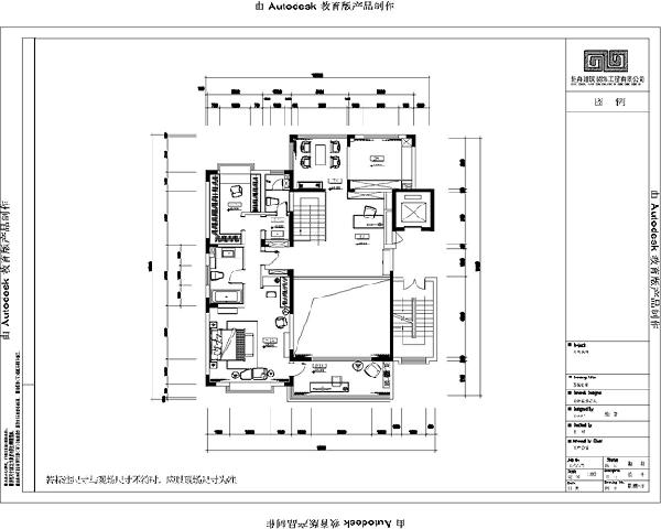 源盛嘉禾(290平米)美式风格别墅户型二层平面布置图