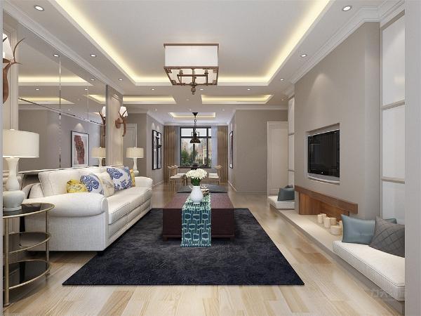 本方案从户型来看各个空间都安排的很规整,动静分区合理。从入户门进入为厨房和多功能空间,地面采用复合木地板,便于清洁打扫。