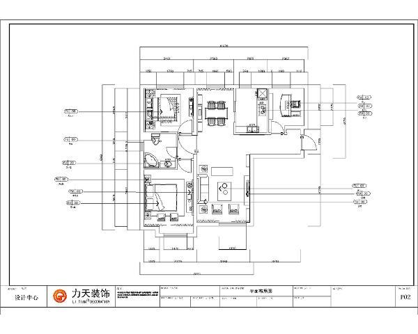 从入户门开入,右手边一个玄关边柜,走过过道,左手边为大厅,大厅对面为餐厅,餐厅与厨房项连,厨房有拉门,保证独立的操作空间。