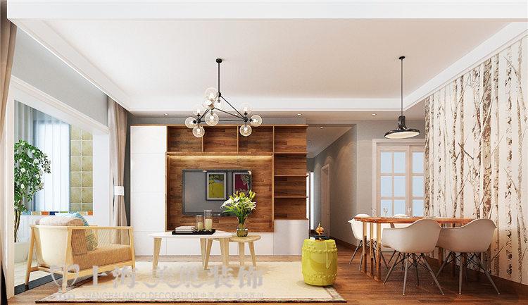 二居 客厅 餐厅图片来自美巢15238642822在江南小镇装修效果图 北欧风图片