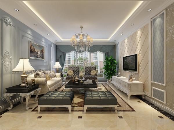此户型根据业主的喜好,将此风格定为欧式的风格,加了很多欧式的元素以及欧式的家具,让整体风格和感觉更为浓厚。