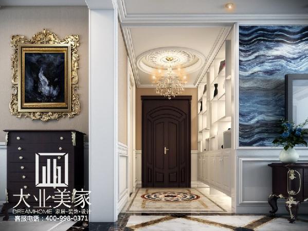 天地湾139平欧式简约门厅装修效果图