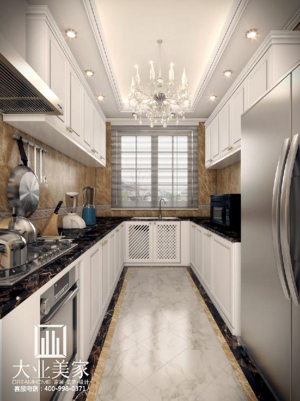 天地湾139平欧式简约厨房装修效果图