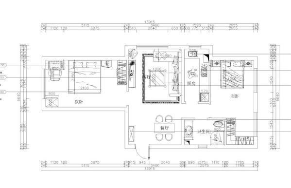 从入户门出发 左手边是衣帽柜的位置,衣帽柜的对面是餐厅的位置,餐桌为四人餐桌,足够使用的看空间,餐厅的右手边是卫生间的位置,卫生间布局合理,通风好,异味散发的快,使用方便。