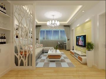 65平米两居室现代风格装修案例