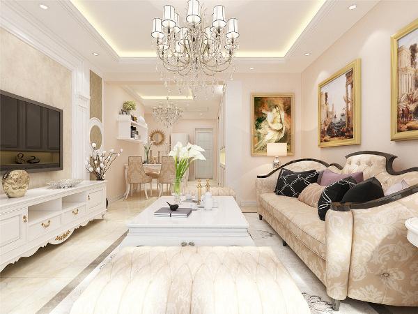 本案为书香锦里两室两厅一厨一卫91㎡户型。本案风格定义为简欧风格,简欧的装修要求只要有一些欧式装修的元素在里面就可以。简欧风格具有很强的实用性,也很适合中国人的居住习惯。