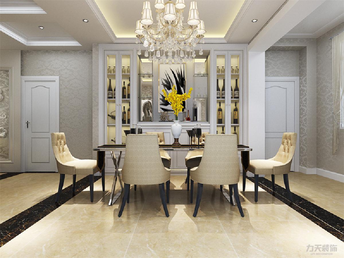 欧式木作_以大理石,淡啡色以及欧式墙纸做主要装饰,白木线及石膏线边框作点缀