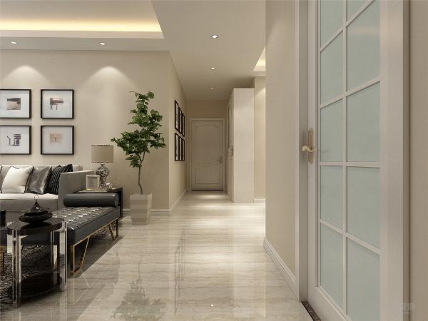 本案为远洋城三室两厅一厨两卫137㎡,本案风格定义为现代简约风格。本方案以暖色调为主,比较简单,客厅背景墙是壁纸,墙上有置物架,可以放一些装饰品。