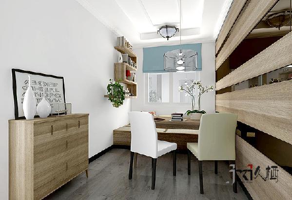 三居简约混搭旧房改造久栖设计北京餐厅装修效果图片