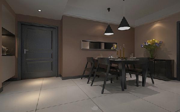 餐厅现代简约新房效果图