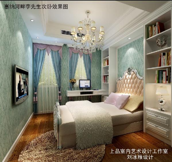 女儿房设计,在房型结构上比较紧,设计师把主卫空间占了一部分做了个衣帽间。业主女儿比较喜欢蓝色,在主题调子上以蓝白为主。床头2边的柜子放客户的喜爱摆件。
