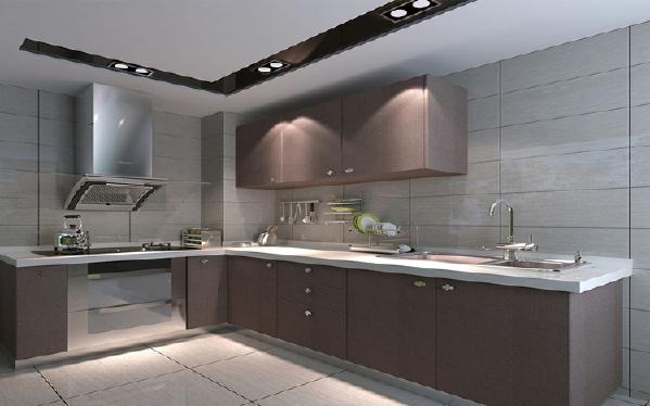 厨房现代简约新房效果图