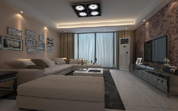客厅现代简约新房效果图