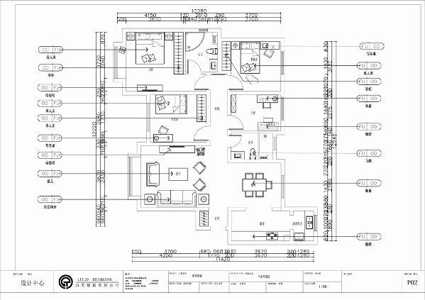 整体的生活空间布局都比较合理,动区与静区分配的适合人们的生活习惯,只要在后期的设计中加以利用会得到一个温馨舒适的居住环境。
