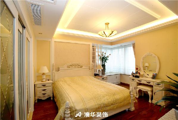 欧式简欧三居白领吊顶电视背景墙卧室图片