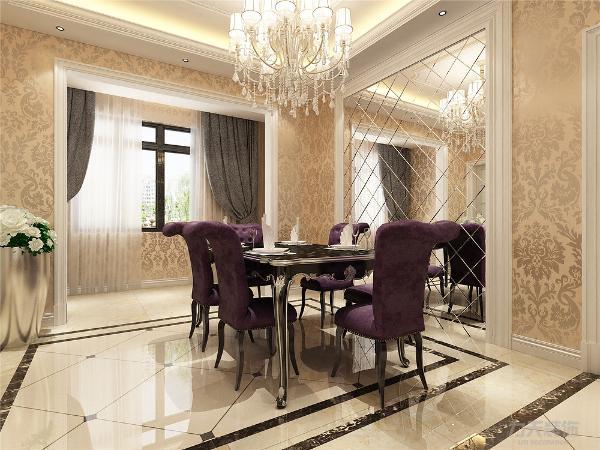 餐厅也是拼花地砖.欧式客厅非常需要用家具和软装饰来图片