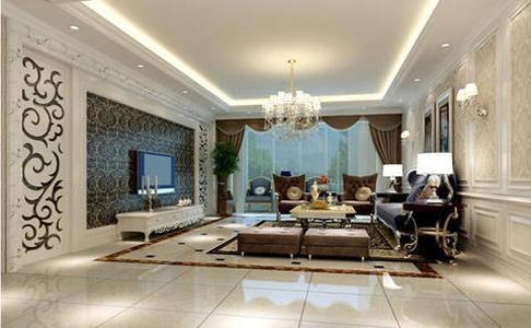 客厅的白色保护板沙发背景,内贴浅色壁纸,时尚温馨不突兀,诱发着淡雅清新的现代简欧味道,配上奢华艺术的布艺沙发,映衬着电视墙相呼应,营造出一个时尚的简欧家居设计。