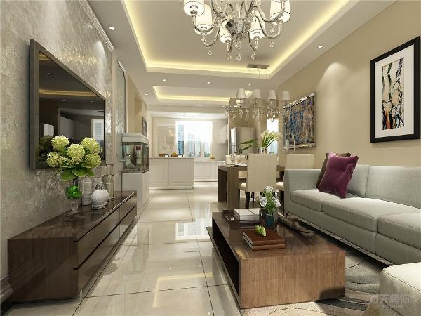 本案为旭辉御府两室两厅一厨一卫93㎡,本案风格定义为现代简约风格。