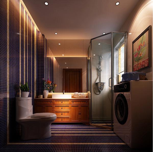 新中式混搭卫生间效果图