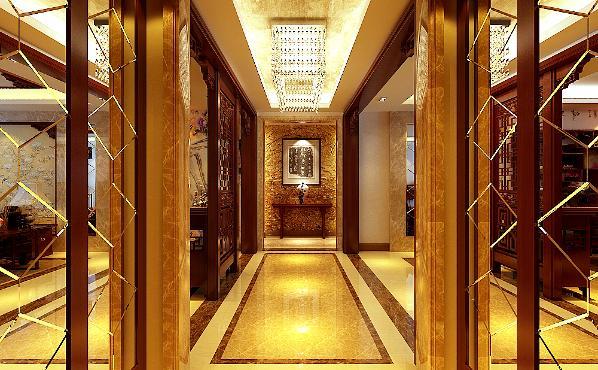 生活家装饰--华贸城210平米中式风格玄关装修效果图
