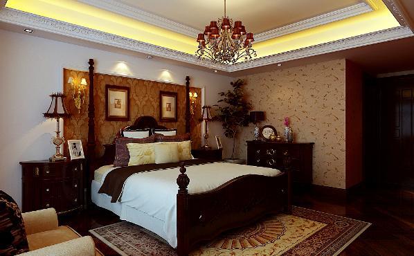 北京生活家—八达岭孔雀城180平米美式卧室效果图