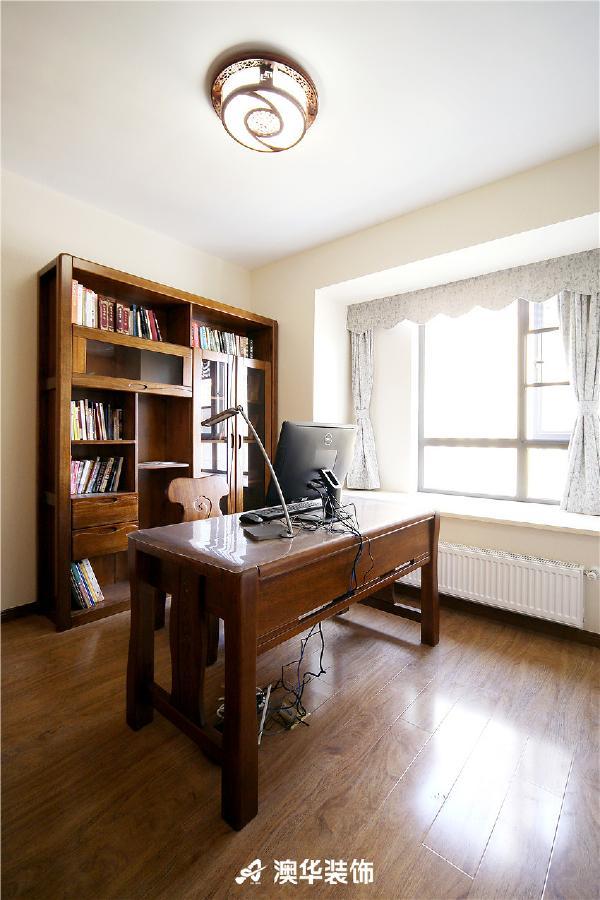 简约新中式三居收纳玄关屏风隔断书房装修效果图片 装修美图 新浪装高清图片
