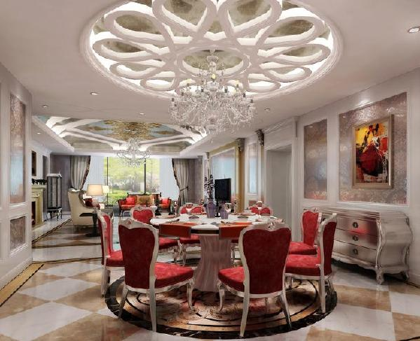 北京生活家-V7九间堂240平米欧式风格餐厅效果图
