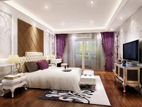 北京生活家-V7九间堂240平米欧式风格卧室效果图