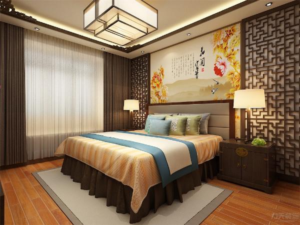 卧室是户主私人休息的空间,为了满足户主的情感和心理的需求,本案采用较暖的色系。满足修休息睡眠,营造出安静,祥和的气氛。本案整体围绕现代风格充分为户主的家庭聚会空间、隐私空间进行了现代人的中式设计。
