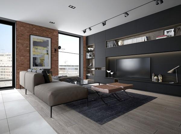 繁花似锦的沙发背景墙十分有特色,灰色调的沙发以及地垫的设计让整个客厅表现出空间柔美和温馨感。