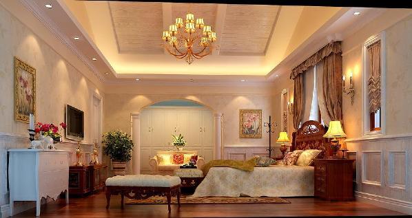 北京生活家—金色漫香林210平米简欧风格卧室效果图