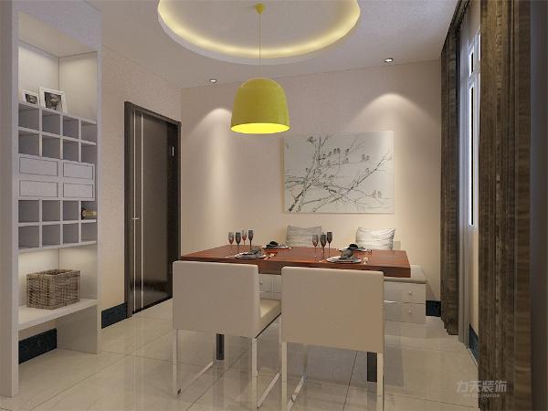 """本案设计为简约风格,""""现代简约风格""""以其明亮,简洁的色彩与现代化的材质与工艺相结合,故赢得人们对它的喜爱。本案为远洋城两室两厅一厨一卫104.78平方米的户型。"""