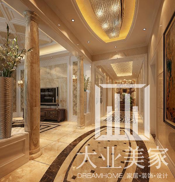 思念果岭别墅420平-美式风格-装修效果图