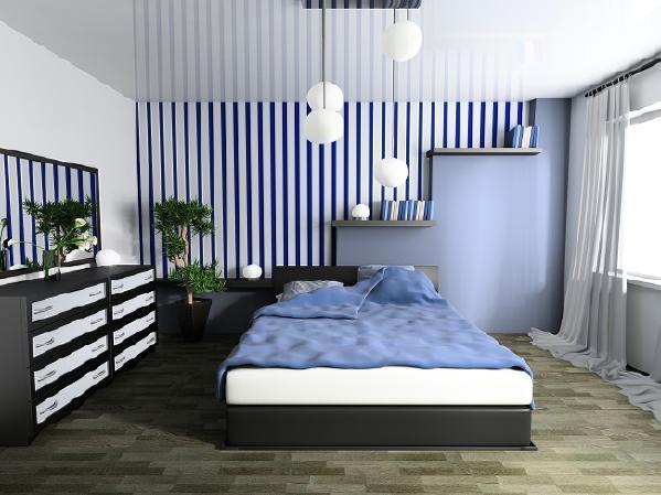 竖条纹图案的墙纸可以增加居室高度。长条状的花纹墙纸具有恒久性、古典性、现代性与传统性等各种特性,是最成功的选择之一,非常容易与其他图案相互搭配。