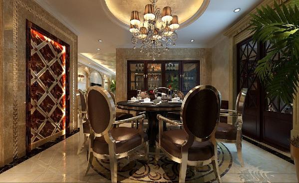北京生活家—山水文园230平米新古典风格餐厅效果图