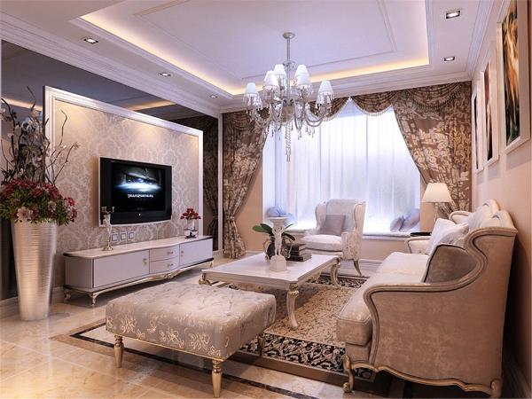 主题色调定义为白色地面采用深咖,浅咖,米色瓷砖拼花,墙面以壁纸,屏线
