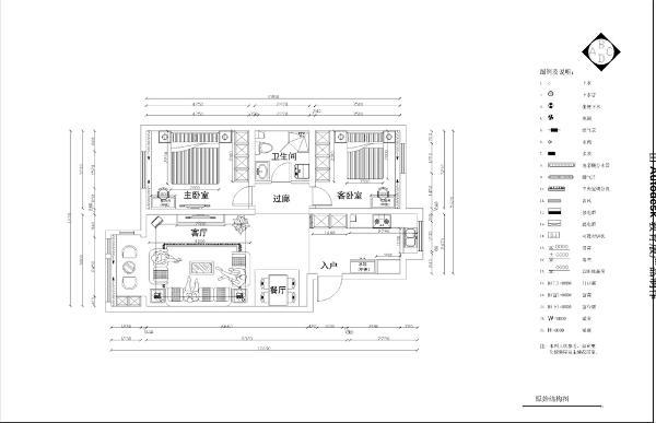 入户玄关处的右边是厨房的空间,左边是一个较大的空间,客厅与餐厅在同一个空间里。前方是一个阳台的设计,与客厅相邻的是主卧的位置,与主卧相邻的位置是卫生间,其次是次卧的位置。
