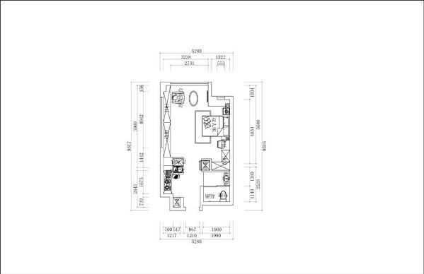 入户直走就是客厅和卧室公用的空间。有个阳台,通风采光都很好。本案为公寓式户型,虽然空间小,但是布局合理,空间利用率大。进最大的可能性满足户主的各种生活需要。