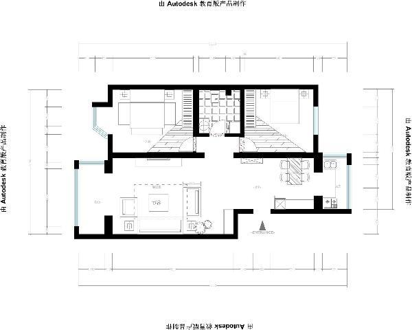 两室两厅河东老房装修
