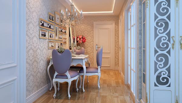 设计理念:色调定位为米白色的暖色调,整体设计定位为简欧风格,运用软包的柔暖奢华、装饰玻璃的时尚镜像以及壁纸的饱满层次感打造出一个舒适温暖的家居空间简洁大气的客厅