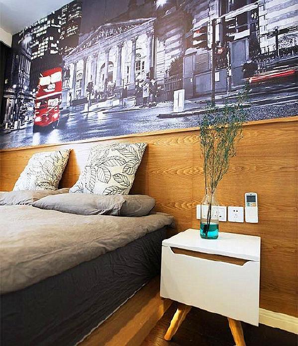 ▲ 床头柜造型简单可爱